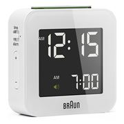Braun - Digital Travel Alarm Clock Small White