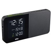 Braun - Radio Alarm Clock Black