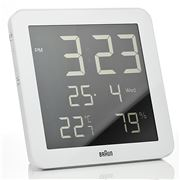 Braun - Digital Wall Clock and Weather Station White