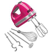 KitchenAid - Artisan Cranberry 9 Speed Hand Mixer