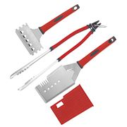 Scanpan - Spectrum Red Barbecue Tool Set 3pce