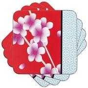 Ladelle - Dine Akemi Coaster Set Red 4pce