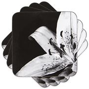 Ladelle - Dine Lily Black Coaster Set 4pce
