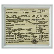 Fishs Eddy - Funny Little Trays Obama's Birth Certificate