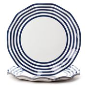 Ex.tra - Paper Plate Set Navy Blue Stripes 10pce
