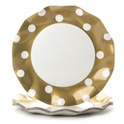 Ex.tra - Paper Plate Set Gold Polka Dots 10pce
