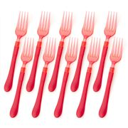Ex.tra - Plastic Fork Set Red 10pce