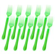 Ex.tra - Green Plastic Fork Set 10pce