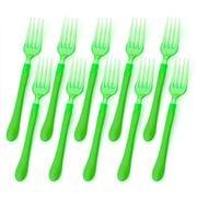 Ex.tra - Plastic Fork Set Green 10pce