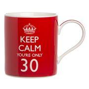 The Leonardo Collection - Keep Calm You're Only 30 Mug