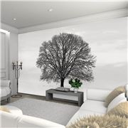 1Wall - Black and White Tree Giant Wallpaper Mural