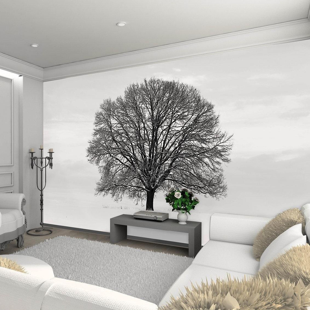 New 1wall black and white tree giant wallpaper mural for Black and white tree wallpaper mural