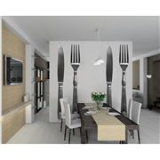 1Wall - Silverware Maxi Wall Sticker