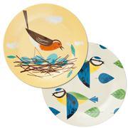 Magpie - Birdy Dinner Plate Set Robin & Bluetit 2pce