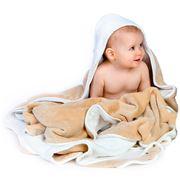 Cuddledry - Baby Apron Bath Towel Oatmeal