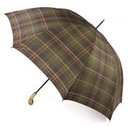 Classic Canes - Elite Grn Tartan Golf Umbrella w/ Ash Handle