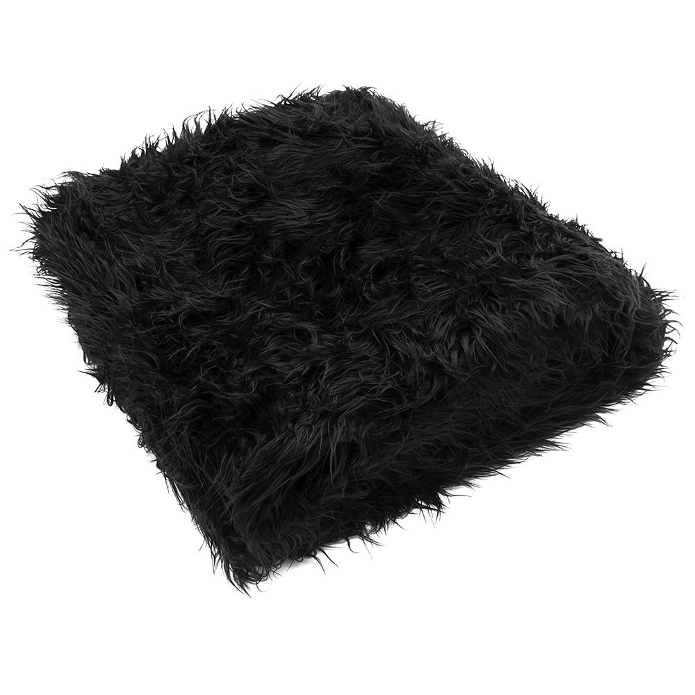 Black Throw Rug