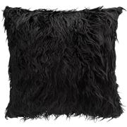 Florence Broadhurst - Faux Fur Black Square Cushion