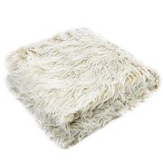 Florence Broadhurst - Faux Fur Natural Throw Rug