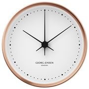 Georg Jensen - Koppel Clock White with Copper Border 22cm