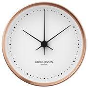 Georg Jensen - Koppel Clock White with Copper Border 22cm