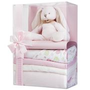 Boz Baby - Bubbles the Bunny Pink Baby Hamper