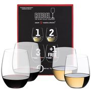 Riedel - O Series Chardonnay & Cabernet Pay for 3 Get 4 Pack
