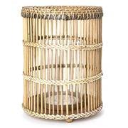 OneWorld - Large Bamboo & Glass Hurricane Lamp
