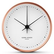 Georg Jensen - Koppel Clock White with Copper Border 10cm