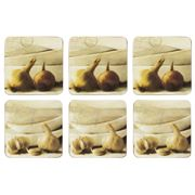 Seagull Studios - Garlic & Onion Coaster Set 6pce