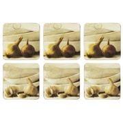 Seagull Studios - Garlic & Onion Coaster Set 6pce
