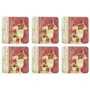 Seagull Studios - Floral Collage Coaster Set 6pce