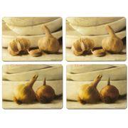 Seagull Studios - Garlic & Onion Large Placemat Set 4pce