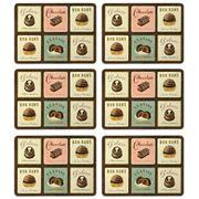Seagull Studios - Chocolatier Placemat Set 6pce