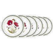 Portmeirion - Botanic Garden Poppies Entree Plate Set 6pce