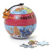 Purple Cow - Mapedia World Map Jigsaw Puzzle 100pce