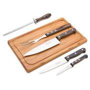 Tramontina - Polywood Black Barbecue Set 7pce