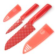 Kuhn Rikon - Colori Art Red Polka Dot Knife Set 2pce