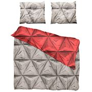Snurk - Monogami Coral Red Queen Quilt Cover Set