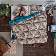 Snurk - Monogami Petrol Blue Queen Quilt Cover Set