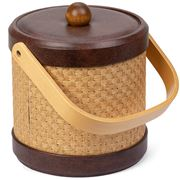 Mr Ice Bucket - Wicker & Faux Leather Wheat Ice Bucket