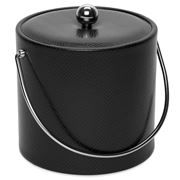 Mr Ice Bucket - Faux Snake Skin Black Ice Bucket