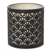 Papaya - Black Fan Shadow Votive Holder