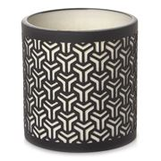 Papaya - Black Chevron Shadow Votive Holder
