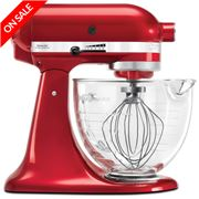 KitchenAid - Platinum KSM156 Candy Apple Red Stand Mixer