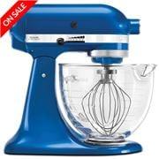 KitchenAid - Platinum KSM156 Electric Blue Stand Mixer