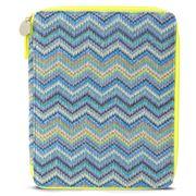 Makaron - Zigzag Blue Ocean iPad Case