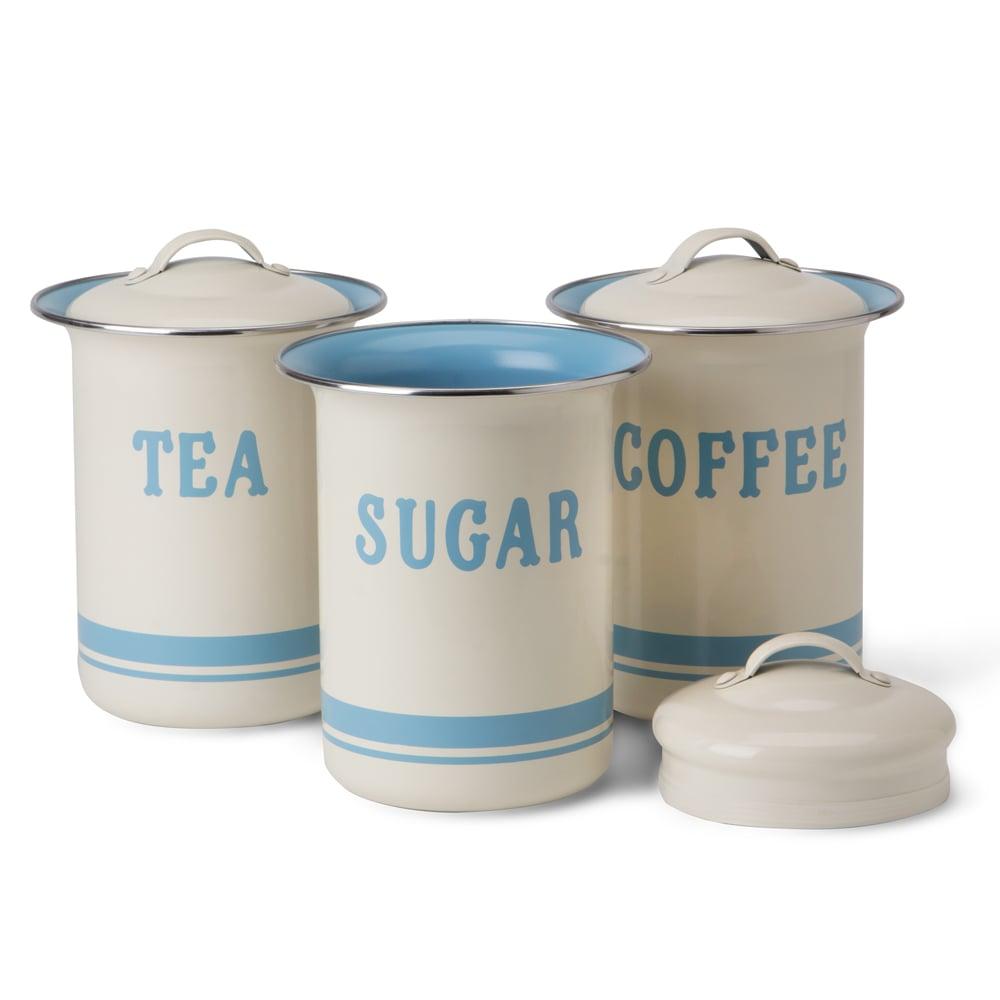 tea coffee sugar canisters jamie oliver vintage tea coffee sugar canister set