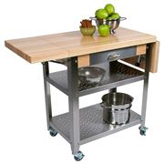 Boos - Cucina Elegante Kitchen Cart Maple w/Drop Shelves