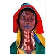 PopArt - Kayan Woman 1 100x150cm